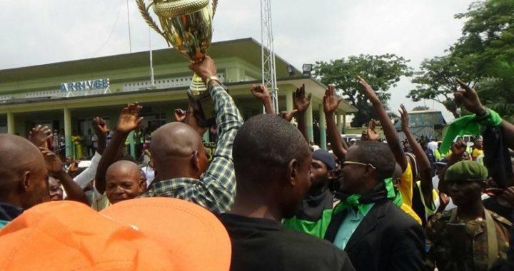 Les joueurs de Maniema Union accueillis en héros à Kindu